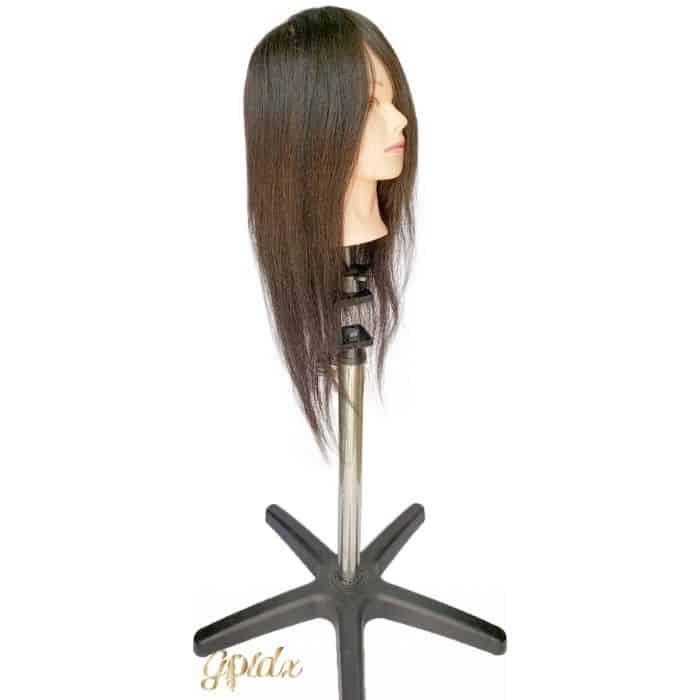בובת אימון שיער 100% שיער טבעי אורך L